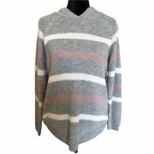 Women's striped sweater hoodie